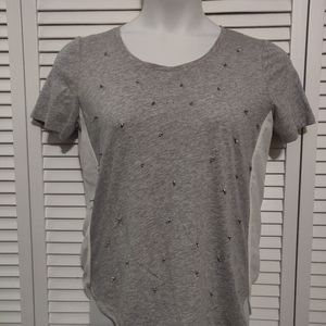 LOFT top, with metal embellishments NWT